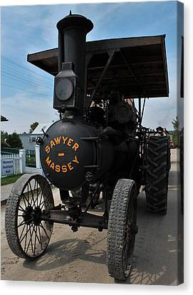 Sawyer Massey Steam Tractor Canvas Print by Karl Anderson