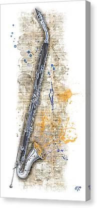 Saxophone 03 - Elena Yakubovich Canvas Print by Elena Yakubovich