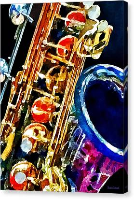 Saxophone Closeup Canvas Print by Susan Savad