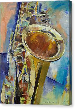 Saxophone Canvas Print by Michael Creese