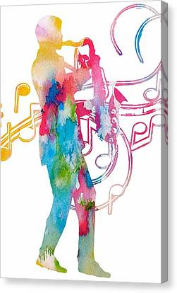 Saxophonist Canvas Print by Dan Sproul