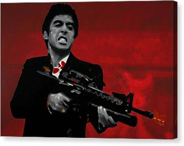 Say Hello To My Little Friend  Canvas Print by Luis Ludzska