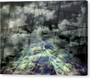 Scaffold Of Time Canvas Print by Florin Birjoveanu