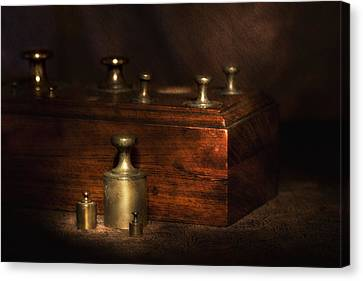 Scale Weights Still Life I Canvas Print by Tom Mc Nemar