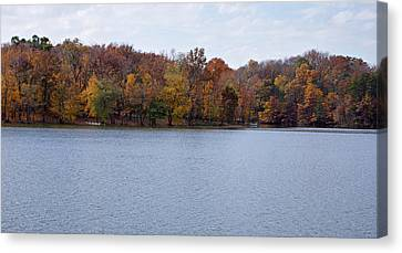 Scales Lake In Autumn Canvas Print by Sandy Keeton