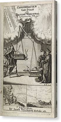 Scales Of Justice And Politics Canvas Print by British Library