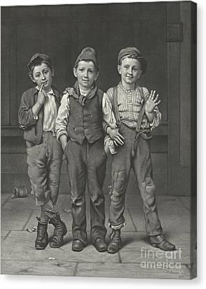 Scapegraces 1880 Canvas Print by Padre Art