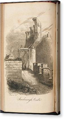 Scarborough Castle From A Guide To The To Canvas Print by British Library
