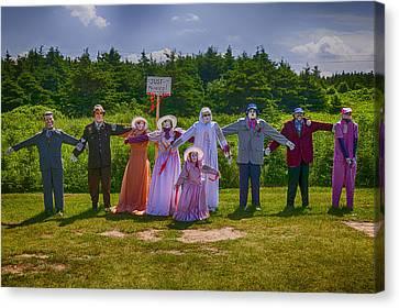 Scarecrow Wedding Canvas Print by Garry Gay