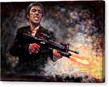 Scarface Canvas Print by Viola El