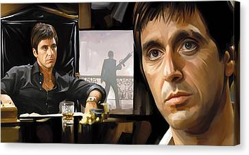Scarface Artwork 1 Canvas Print by Sheraz A