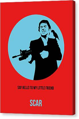 Scarface Poster 1 Canvas Print by Naxart Studio