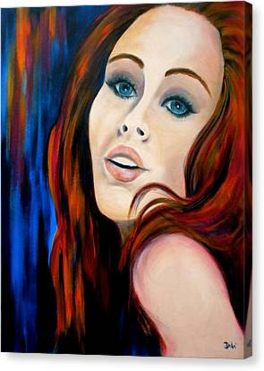 Scarlet's Secret Canvas Print by Debi Starr