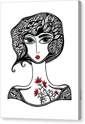 Scarlett Canvas Print by Jody Pham