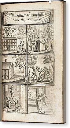 Scenes Of Levitation Canvas Print by British Library