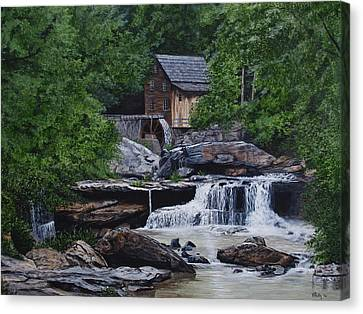Scenic Grist Mill Canvas Print by Vicky Path