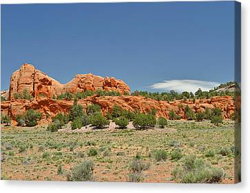 Scenic Navajo Route 12 Near Fort Defiance Canvas Print by Christine Till