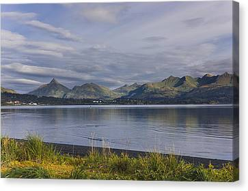 Scenic View Of Womens Bay, Kodiak Canvas Print by Kevin Smith