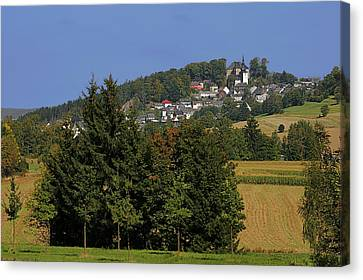 Schauenstein - A Typical Upper-franconian Town Canvas Print by Christine Till