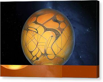 Schiaparelli's Mars, Artwork Canvas Print by Science Photo Library