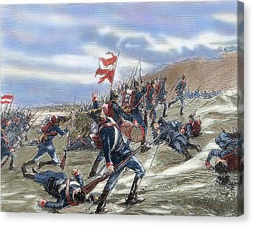 Schleswig-holstein Question. The First Schleswig War Or Three Years War 1848-1851. Fighting Canvas Print by Bridgeman Images