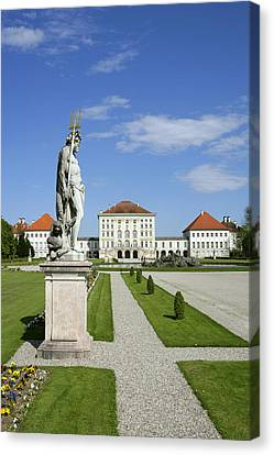 Schloss Nymphenburg In Muenchen, Castle Canvas Print by Tips Images