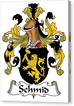 Schmid Coat Of Arms German Canvas Print by Heraldry