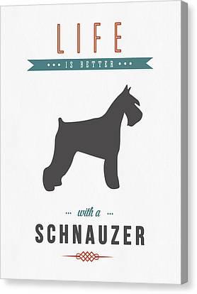 Schnauzer 01 Canvas Print by Aged Pixel