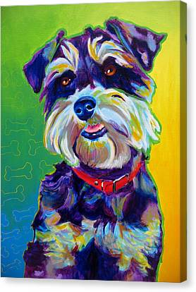 Schnauzer - Charly Canvas Print by Alicia VanNoy Call