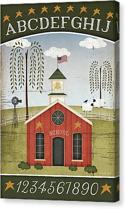 School Abc Canvas Print by Jennifer Pugh