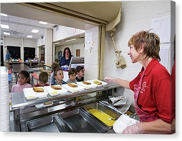 School Cafeteria Canvas Print by Jim West
