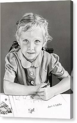 School Days 1948 Canvas Print by Sarah Batalka