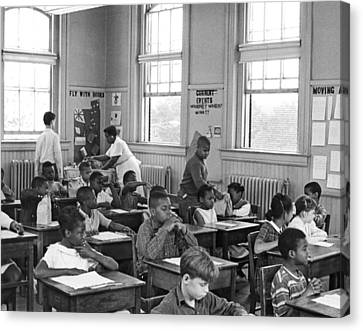 School Lunch Program Canvas Print by Underwood Archives