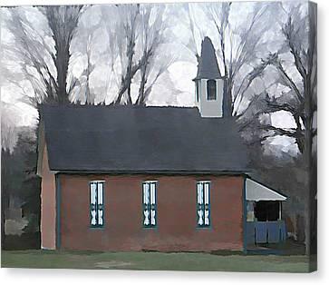 Schoolhouse Canvas Print by Brenda Conrad