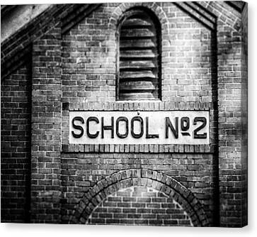 Schoolhouse No. 2 In Black And White Canvas Print by Lisa Russo