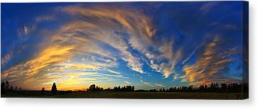 Schoolyard Sunset 1 Cloudscape Canvas Print by ABeautifulSky Photography