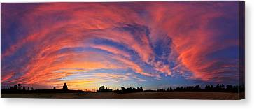 Schoolyard Sunset 2 Cloudscape Canvas Print by ABeautifulSky Photography