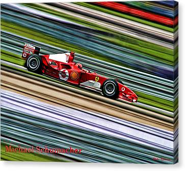 Schumacher Guard Rail Blur Canvas Print by Blake Richards