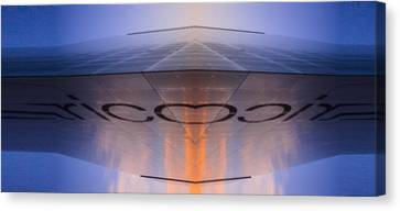 Sci-fi Building In Glass  And Tiles Canvas Print by Toppart Sweden
