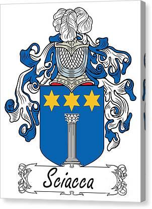 Sciacca Coat Of Arms Di Sicilia Canvas Print by Heraldry