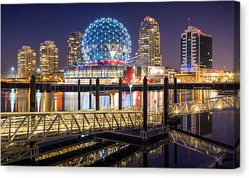 Science World In Vancouver Canvas Print by Alexis Birkill