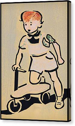 Scooter Girl Canvas Print by Tony Grider