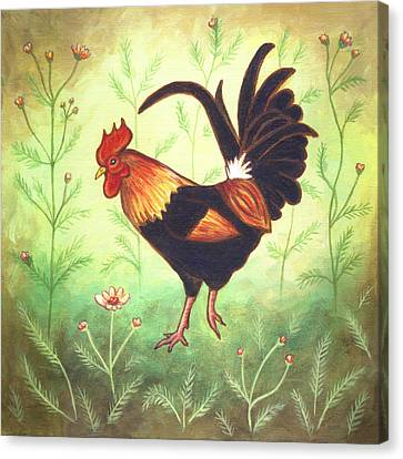 Scooter The Rooster Canvas Print by Linda Mears