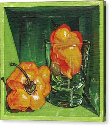 Scotch Bonnet Canvas Print by Paige Wallis