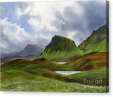 Scotland Highlands Landscape Canvas Print by Sharon Freeman