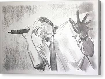 Scott Weiland Canvas Print by Charlotte NC Artist Phil Robinson