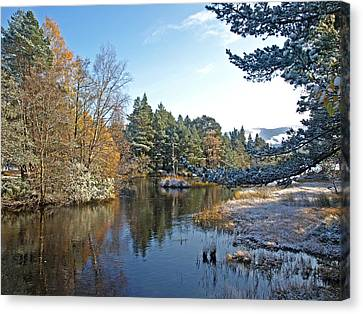 Scottish Loch Near Aviemore Canvas Print by Gill Billington