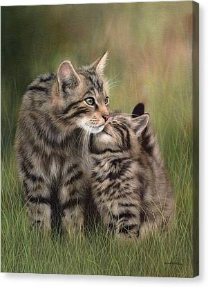 Scottish Wildcats Painting - In Support Of The Scottish Wildcat Haven Project Canvas Print by Rachel Stribbling