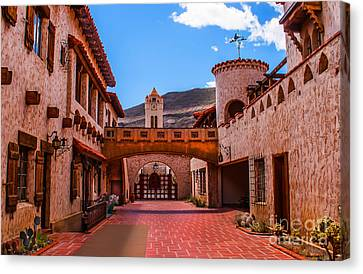 Scotty's Castle Courtyard Canvas Print by Robert Bales