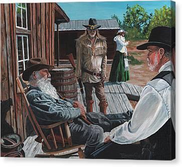 Scouts Report Canvas Print by Timithy L Gordon